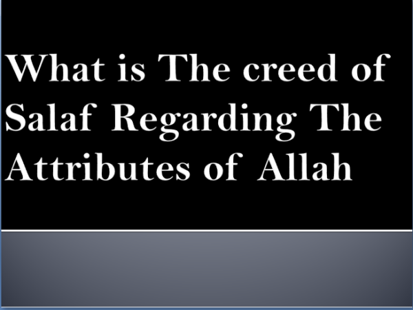 creed of salaf pakka
